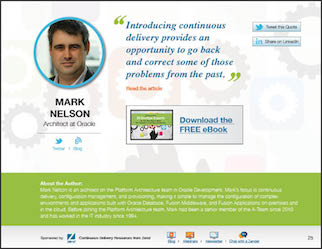 Lessons from 29 DevOps Experts on the Best Way to Make the Transition to Continuous Delivery - Mark Nelson